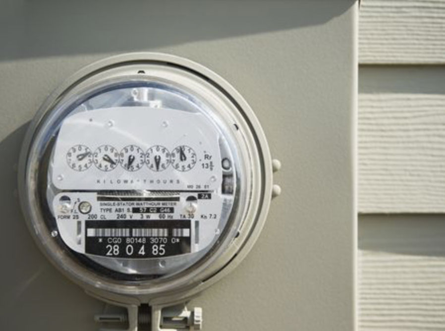 Gas/Electric meter.